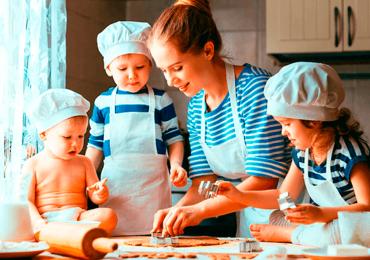Cozinhando com seus filhos