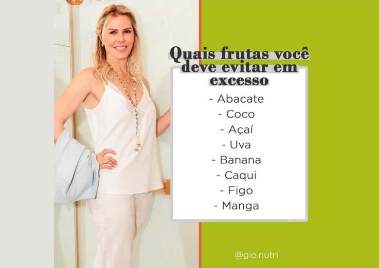 Quais frutas você deve evitar em excesso?